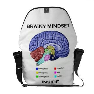 Brainy Mindset Inside (Anatomical Brain) Courier Bag