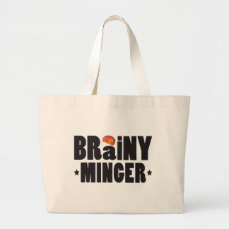 Brainy Minger K Tote Bags