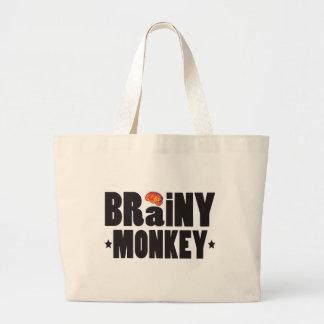 Brainy Monkey K Tote Bag