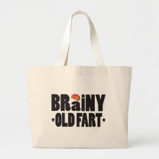 Brainy Old Fart K Tote Bags