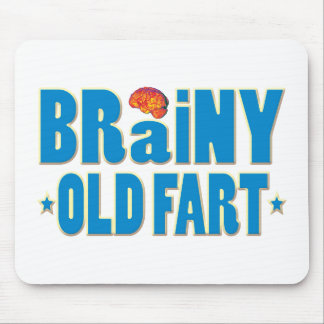 Brainy Old Fart Mouse Pad