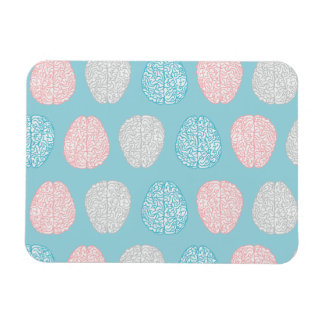 Brainy Pastel Pattern (Awesome Pastel Brains) Magnet