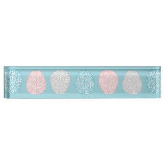 Brainy Pastel Pattern (Awesome Pastel Brains) Name Plate