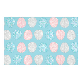 Brainy Pastel Pattern (Awesome Pastel Brains) Stationery