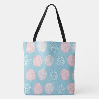 Brainy Pastel Pattern (Awesome Pastel Brains) Tote Bag