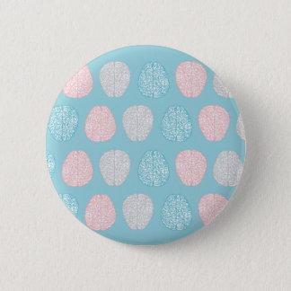 Brainy Pastel Pattern Pinback Button