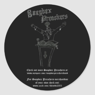 Brainy Preacher Sticker