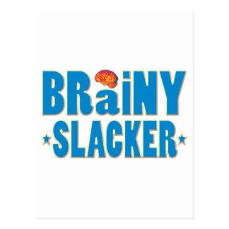 Brainy Slacker Postcard