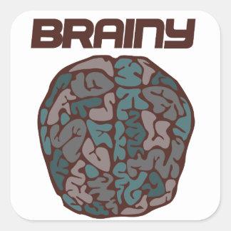 Brainy Square Sticker