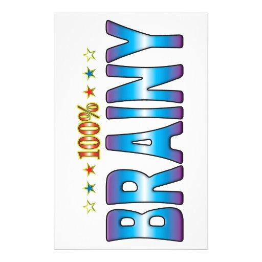 Brainy Star Tag v2 Stationery Paper