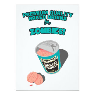Brainz - Baked Beings Brains for Zombies 5.5x7.5 Paper Invitation Card