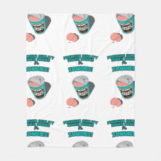 Brainz - Baked Beings Brains for Zombies Fleece Blanket