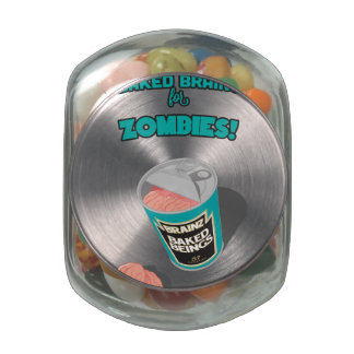Brainz - Baked Beings Brains for Zombies Glass Jar