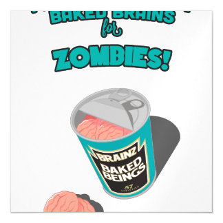 Brainz - Baked Beings Brains for Zombies Magnetic Card