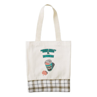 Brainz - Baked Beings Brains for Zombies Zazzle HEART Tote Bag