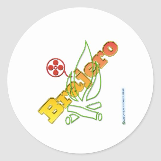 Brajero Classic Round Sticker