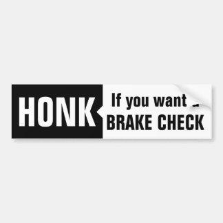 Brake Check Car Bumper Sticker