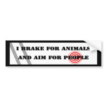 Brake for Animals & Aim for People Bumper Sticker
