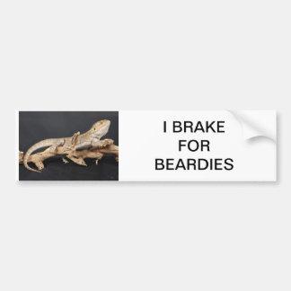 Brake for Beardy's Bumper Sticker