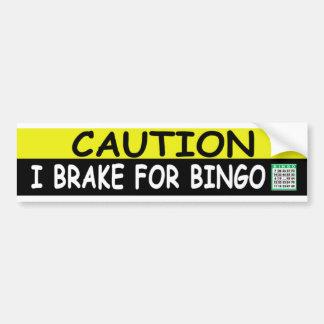 Brake For BINGO Car Bumper Sticker