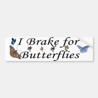 brake for butterflies car bumper sticker