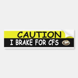 Brake For CFS Car Bumper Sticker