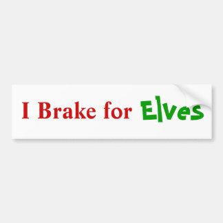 Brake For Elves Bumper Sticker