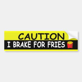 Brake For FRIES Car Bumper Sticker