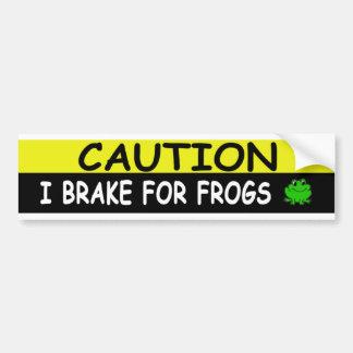 Brake For  FROGS Car Bumper Sticker