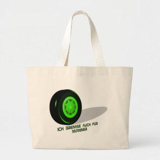 Brake for man green large tote bag