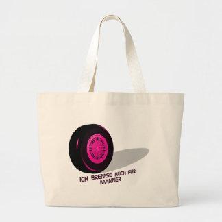 Brake for measure-he-pink large tote bag