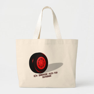 Brake for measure he red large tote bag