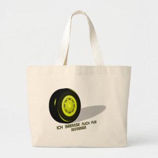 Brake for measure he yellow large tote bag