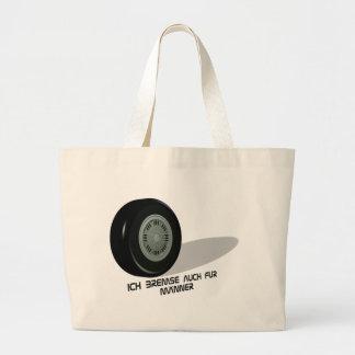 Brake men large tote bag
