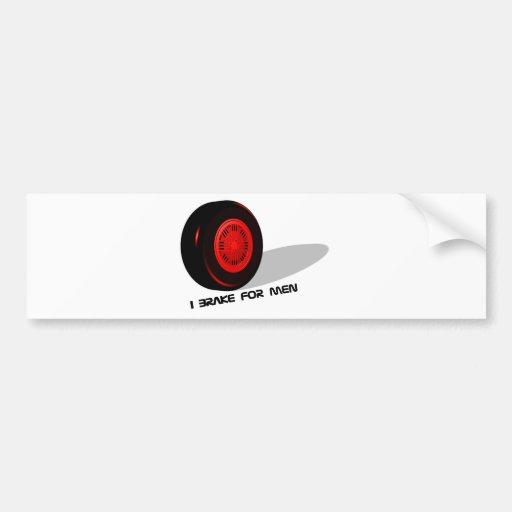 BrakeForMen-red Auto Sticker