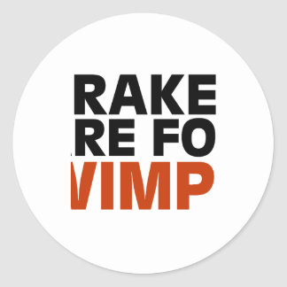 Brakes Are For Wimps Classic Round Sticker