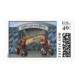 Brakes Are For Wimps! Postage Stamps