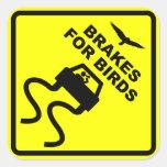 Brakes for Birds Square Sticker