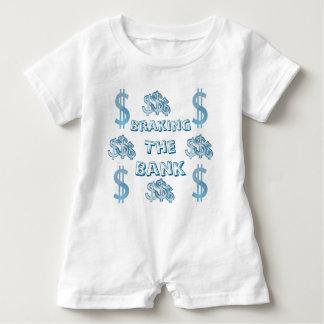 Braking The Bank Baby Romper