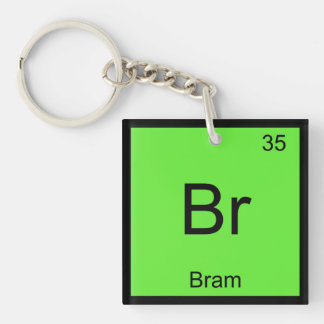 Bram Name Chemistry Element Periodic Table Keychain
