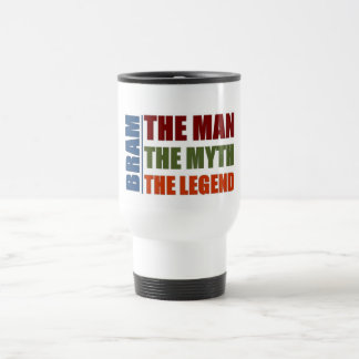 Bram the man, the myth, the legend travel mug