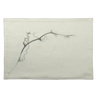 Bramble Tendrils in the Fog - Minimalism Cloth Placemat