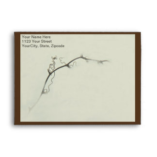 Bramble Tendrils in the Fog - Minimalism Envelope