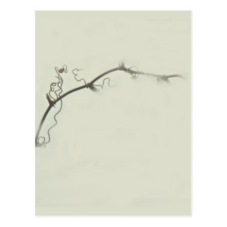 Bramble Tendrils in the Fog - Minimalism Postcard