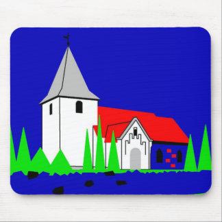 Bramdrupdam Kirke - The Church in Bramdrupdam Mouse Pad
