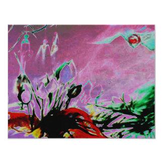 BRAMH KAMAL -  Lotus Healing Spirit 4.25x5.5 Paper Invitation Card