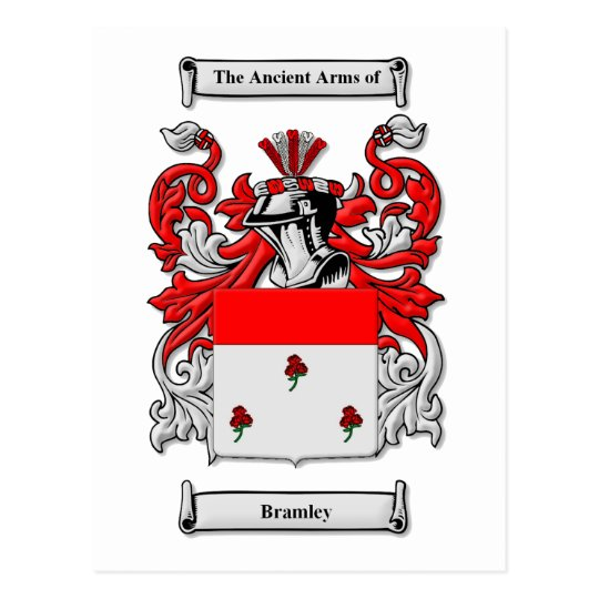 Bramley Coat of Arms Postcard