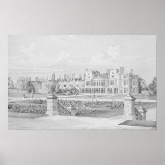 Brampton Park Huntingdonshire 1852 Print