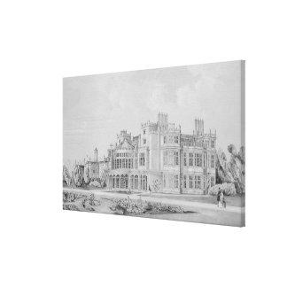 Brampton Park near Huntingdon 1852 Canvas Print