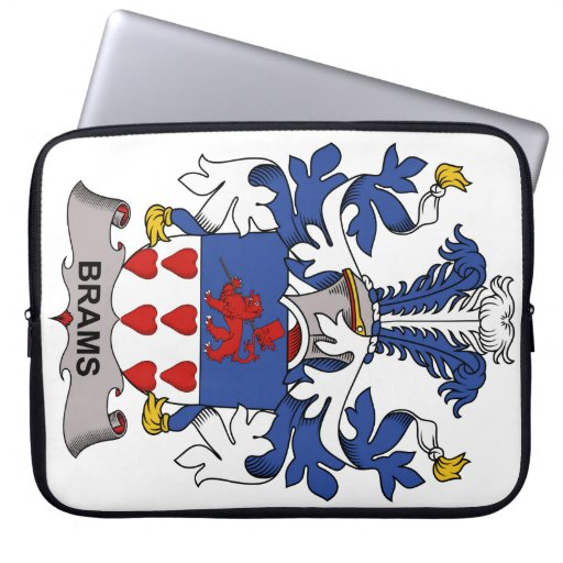 Brams Family Crest Computer Sleeve